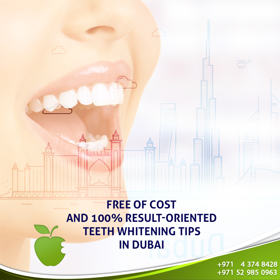 Free of Cost and 100% Result-Oriented Teeth Whitening Tips in Dubai